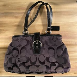 Coach Soho Signature Carryall (E1282-F19253) Black